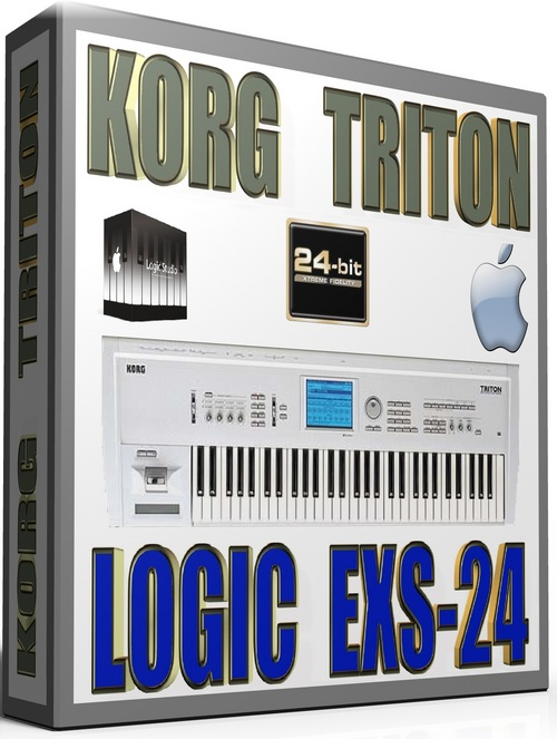Product picture KORG TRITON SAMPLES APPLE LOGIC PRO-TOOLS EXS-24 22GB 24-BIT