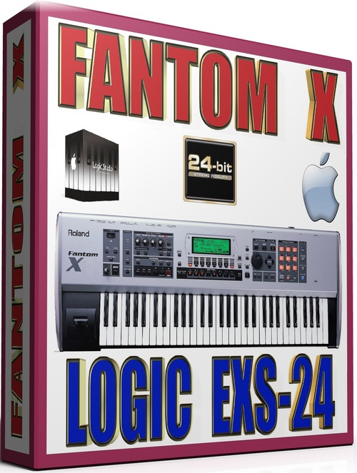Product picture FANTOM X SAMPLES APPLE LOGIC PRO-TOOLS EXS-24 25GB 24-BIT