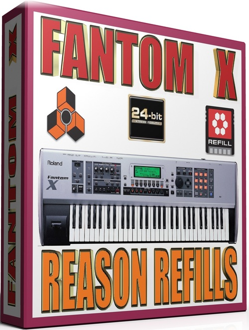 Product picture ROLAND FANTOM X SAMPLES REASON REFILLS sxt 25GB *24-BIT*